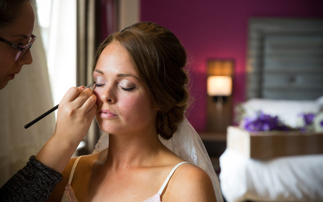 lilac bridal makeup