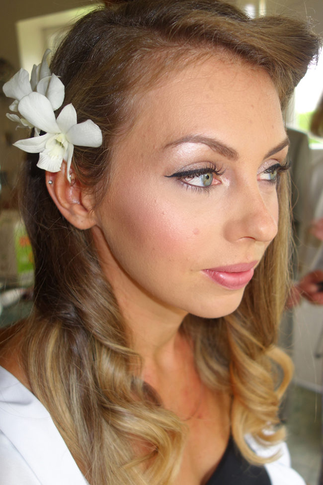 makeup artist lake district summer bride